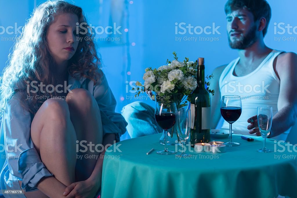 Couple arguing on the date - Royalty-free 2015 Stock Photo