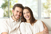 istock Couple at home looking at camera 535496420