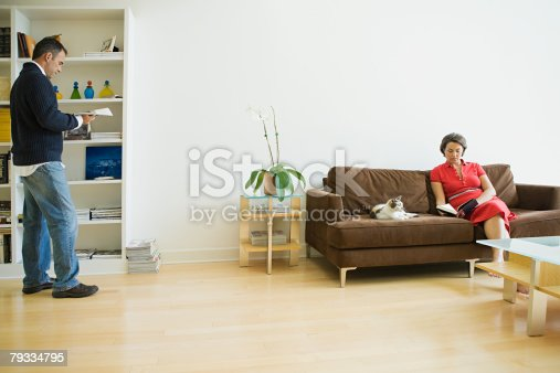 istock Couple at home 79334795