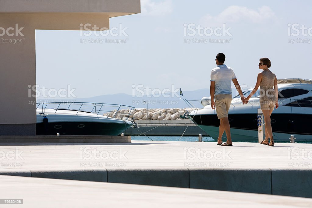 Couple at marina royalty-free 스톡 사진