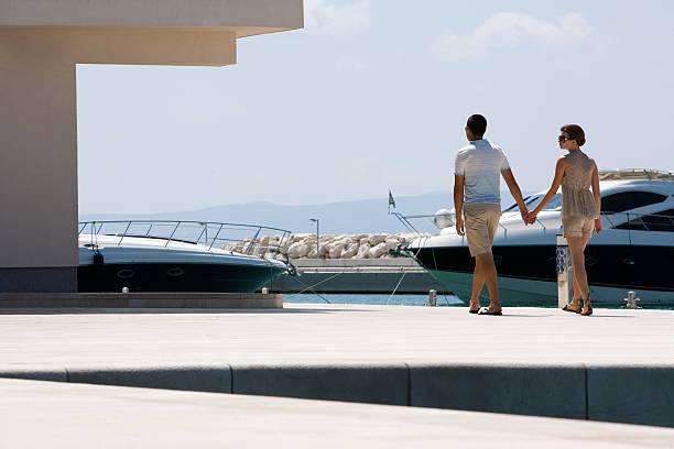 Paar im marina – Foto