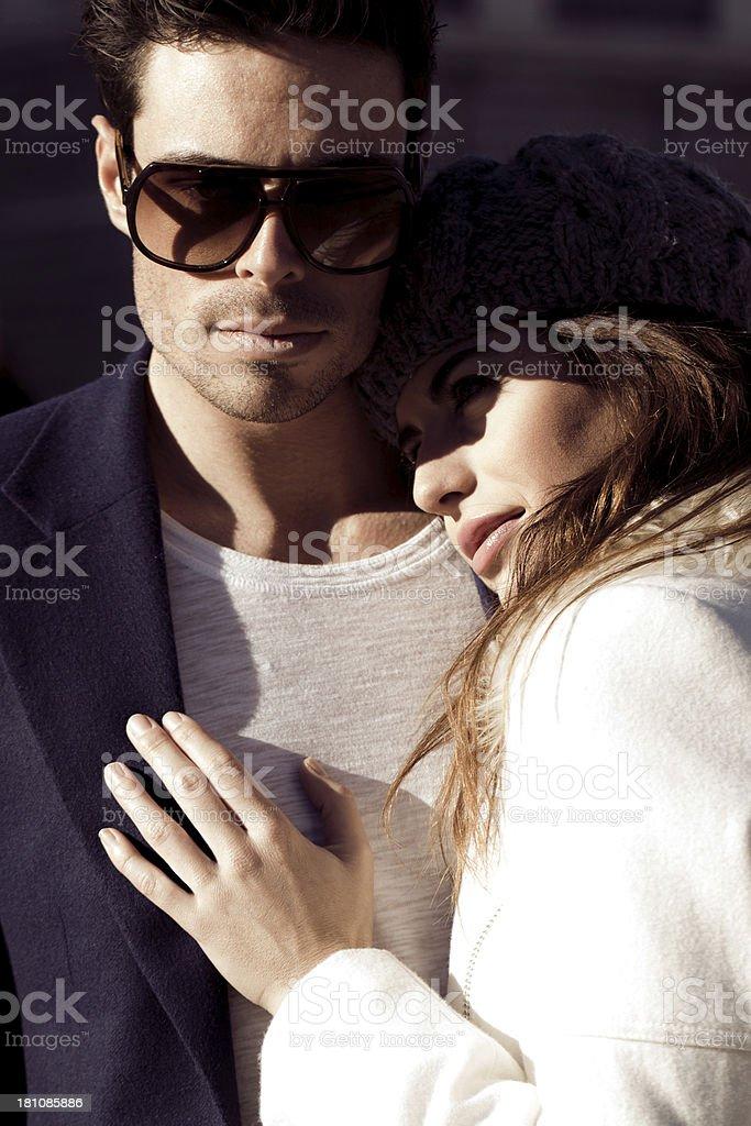 Couple at Palace royalty-free stock photo