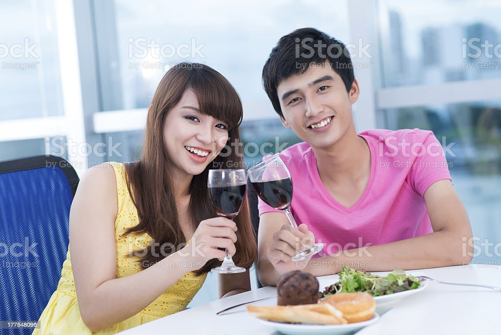 Couple at party royalty-free stock photo