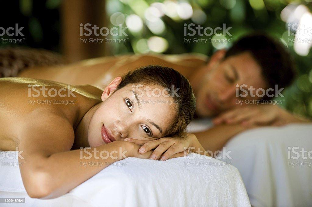 Couple At Spa royalty-free stock photo