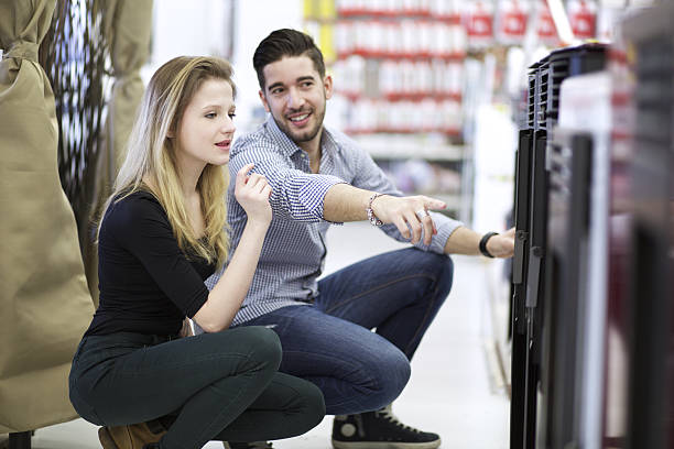 couple at store stock photo