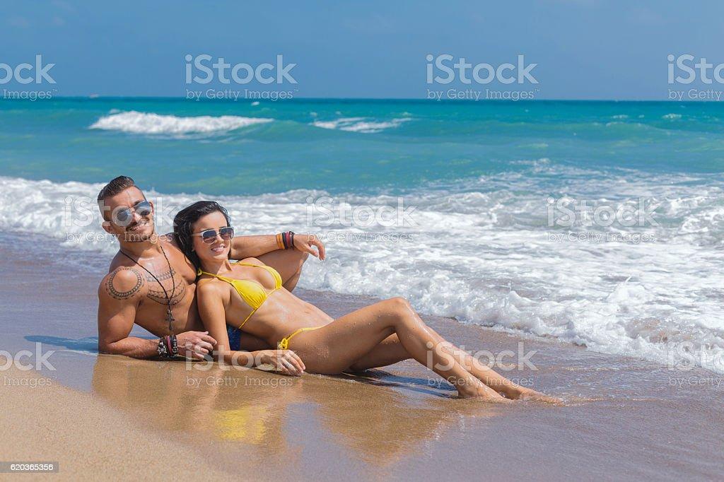 Casal na hora de Verão foto de stock royalty-free