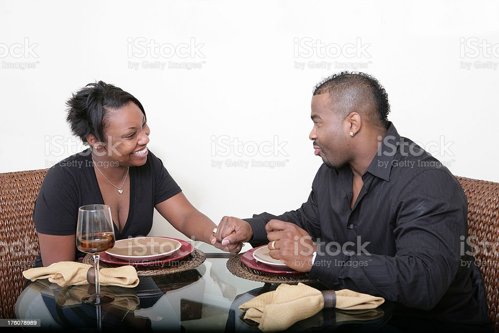 Couple at Table royalty-free stock photo