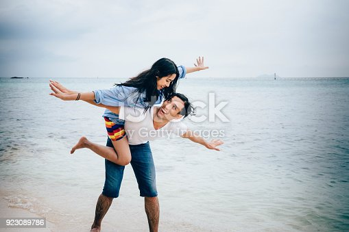 istock Couple at the beach. 923089786