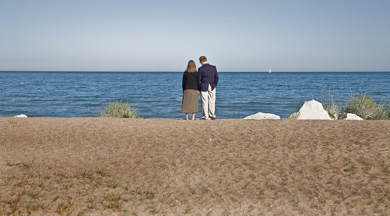 couple at the big lake