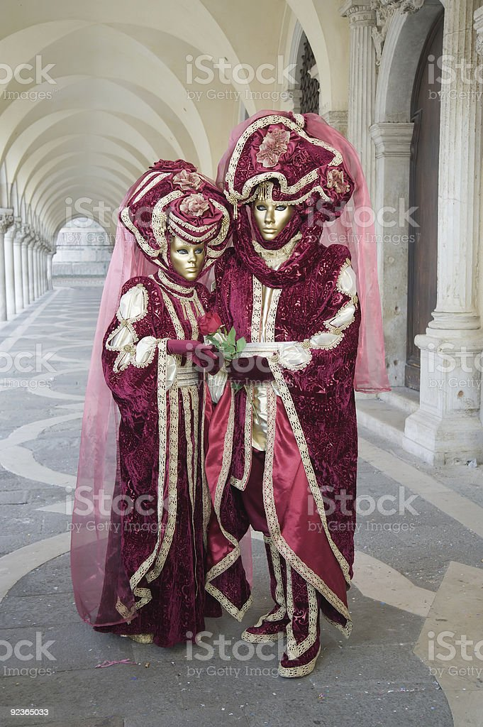 Couple at the carnival royalty-free stock photo
