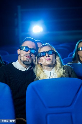 187095683 istock photo Couple at the cinema 618216984