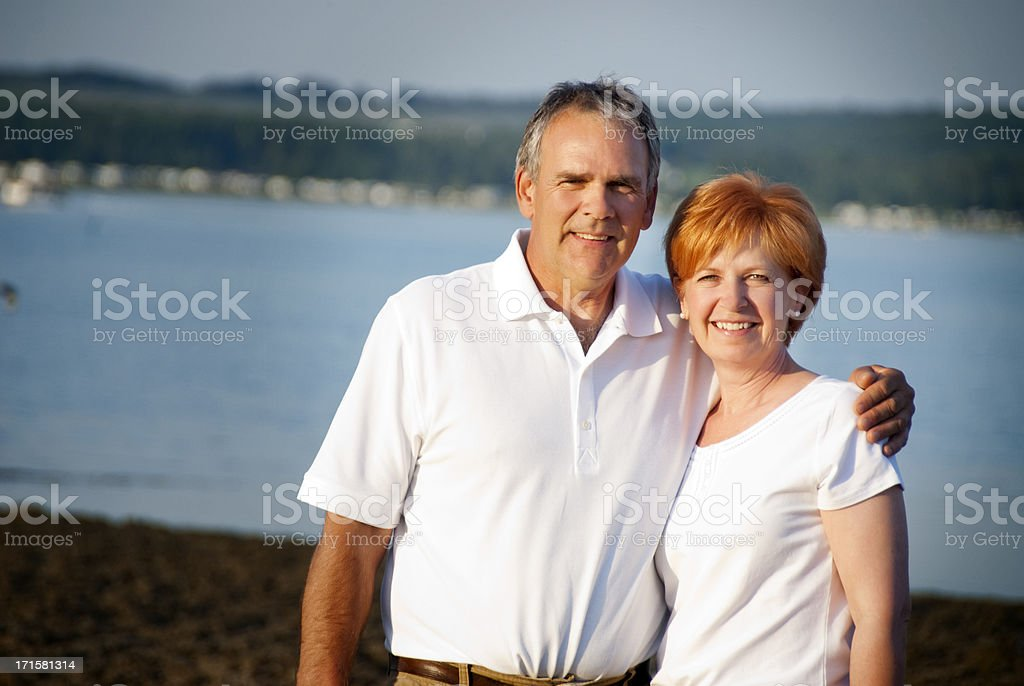 Couple at the Lake royalty-free stock photo