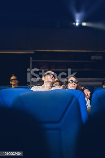 187095683 istock photo Couple At The Movies 1010002404