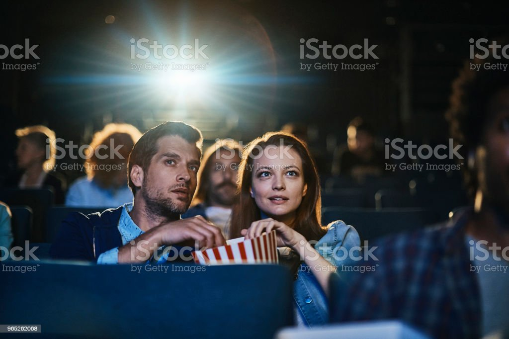 Couple at the movies royalty-free stock photo
