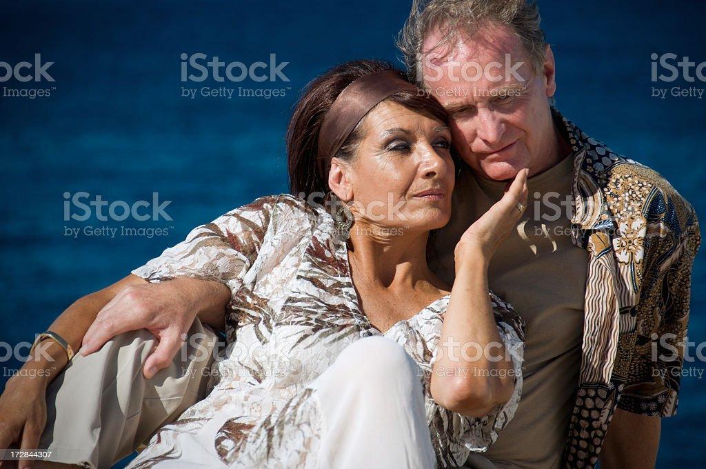 couple at the seashore royalty-free stock photo