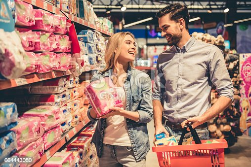 istock Couple at the supermarket 664443080