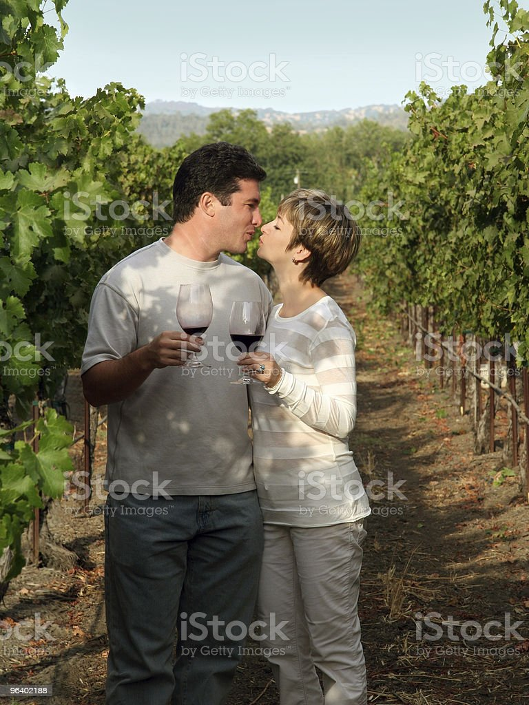 Couple at vineyard - Royalty-free Adult Stock Photo