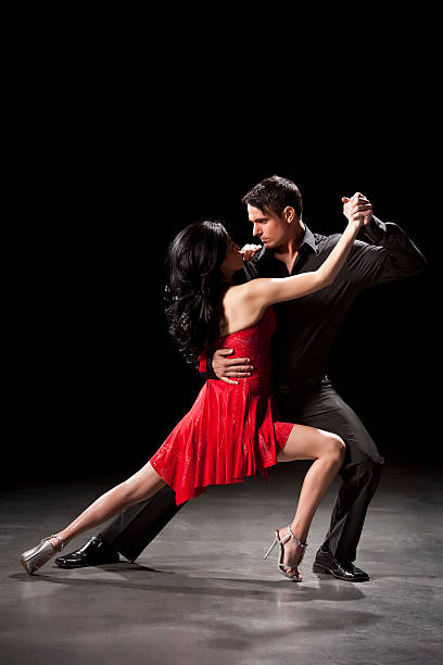 Couple Ballroom Dancing stock photo