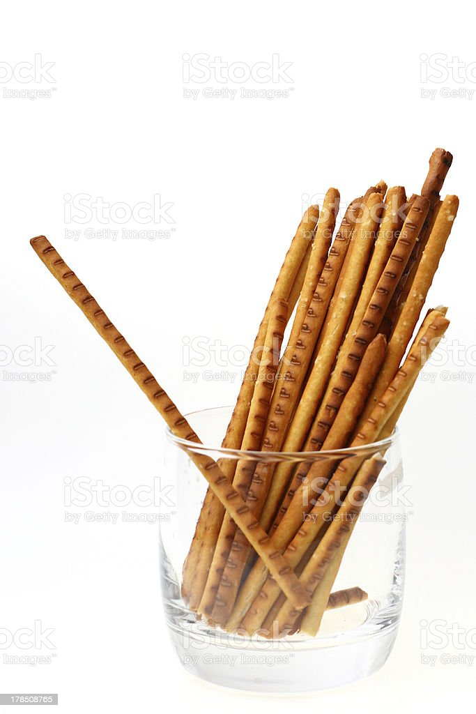 Couple breadsticks and independent one. royalty-free stock photo