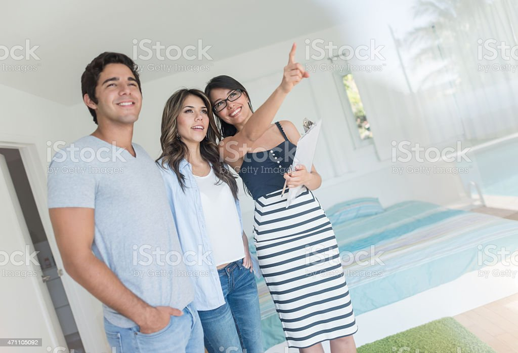 Couple buying a new house stock photo