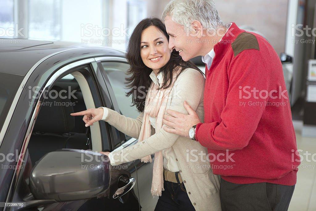 Couple buying car royalty-free stock photo