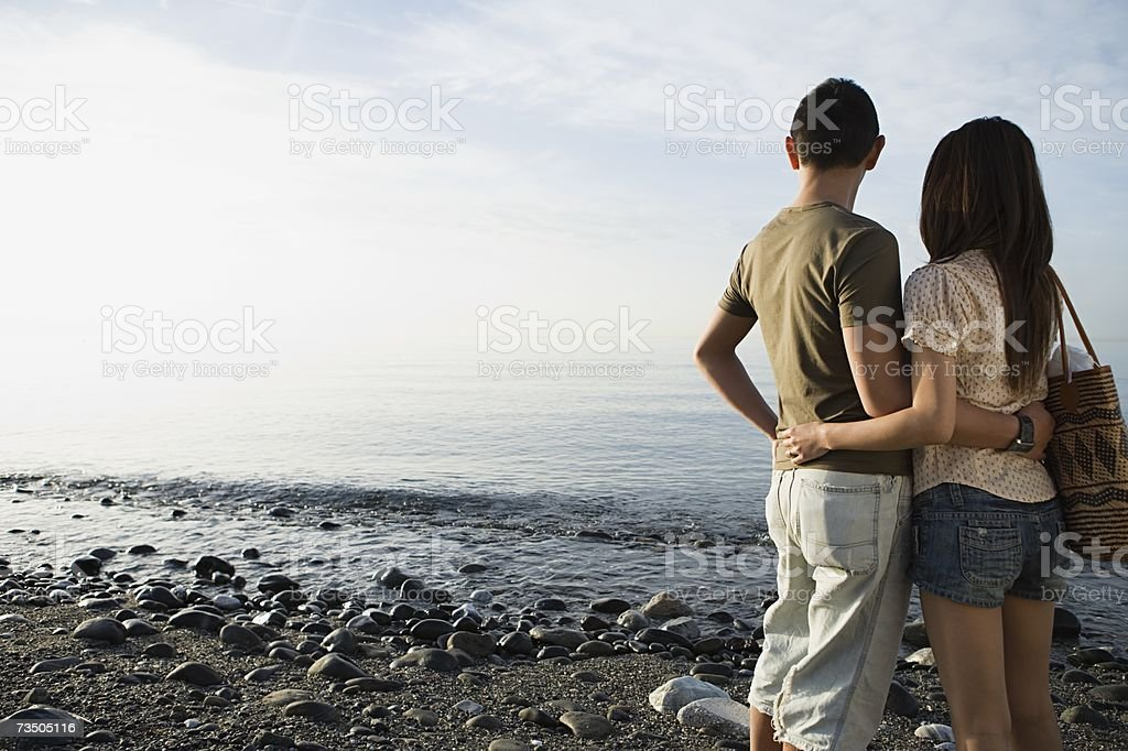 Couple by the sea royalty-free stock photo