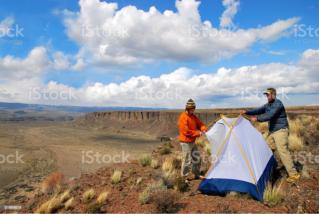 Couple Camping royalty-free stock photo