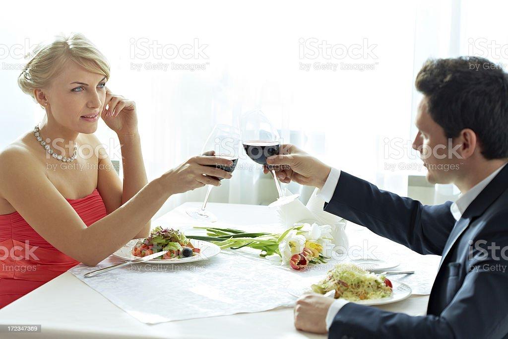 Couple celebrating royalty-free stock photo