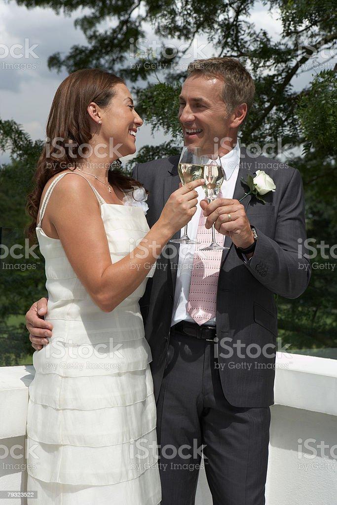 A couple celebrating 免版稅 stock photo