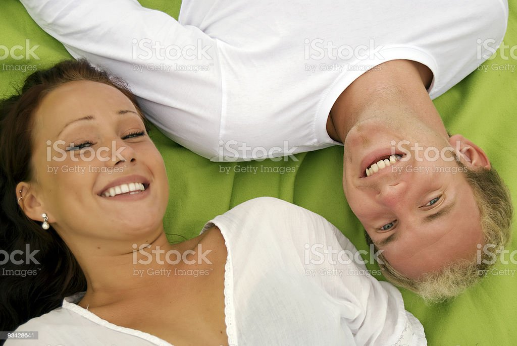 couple chilling royalty-free stock photo