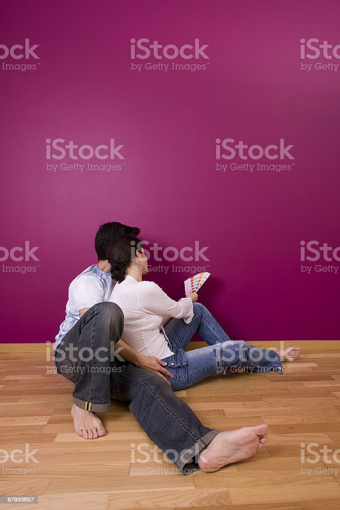 couple chousing color royalty-free stock photo