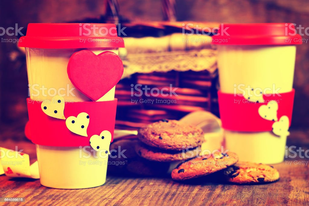 couple coffee valentine day royalty-free stock photo