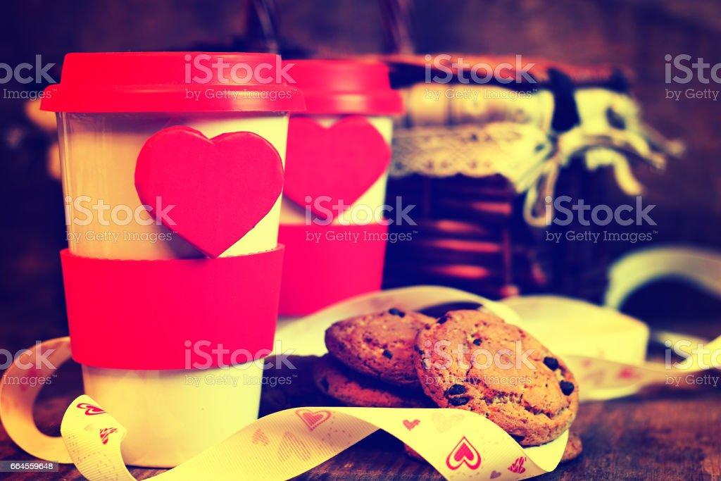 couple coffee valentine day royalty-free stock photo