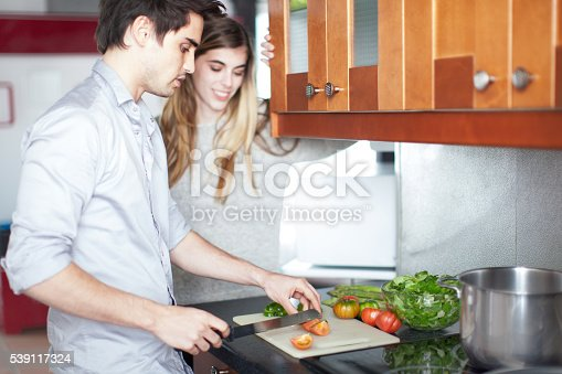 istock Couple Cooking a Meal 539117324