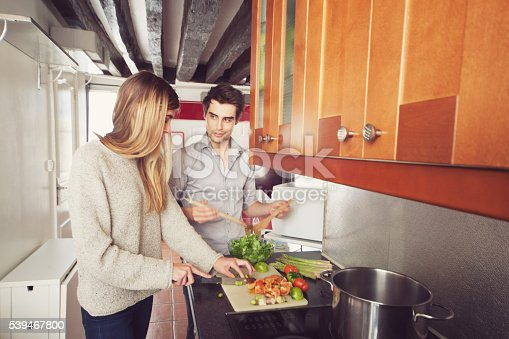 istock Couple Cooking a Meal 539467800