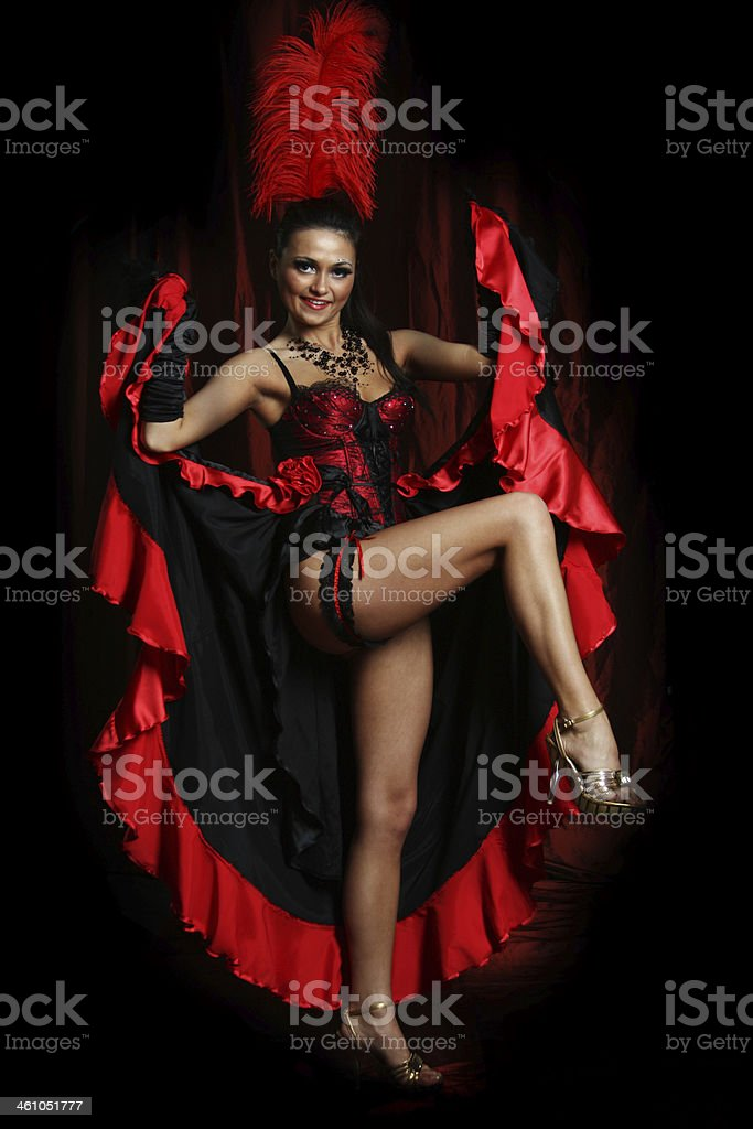 Couple dancer moulin rouge stock photo