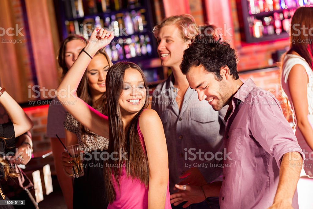 Couple Dancing At A Party royalty-free stock photo