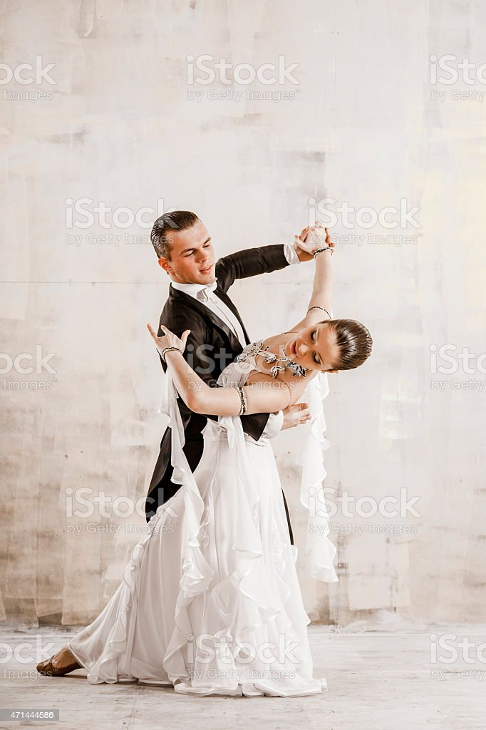 Couple dancing, ballroom dancing stock photo