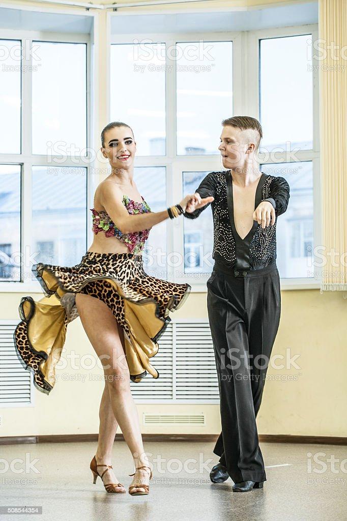 Couple dancing, ballroom dancing stock photo