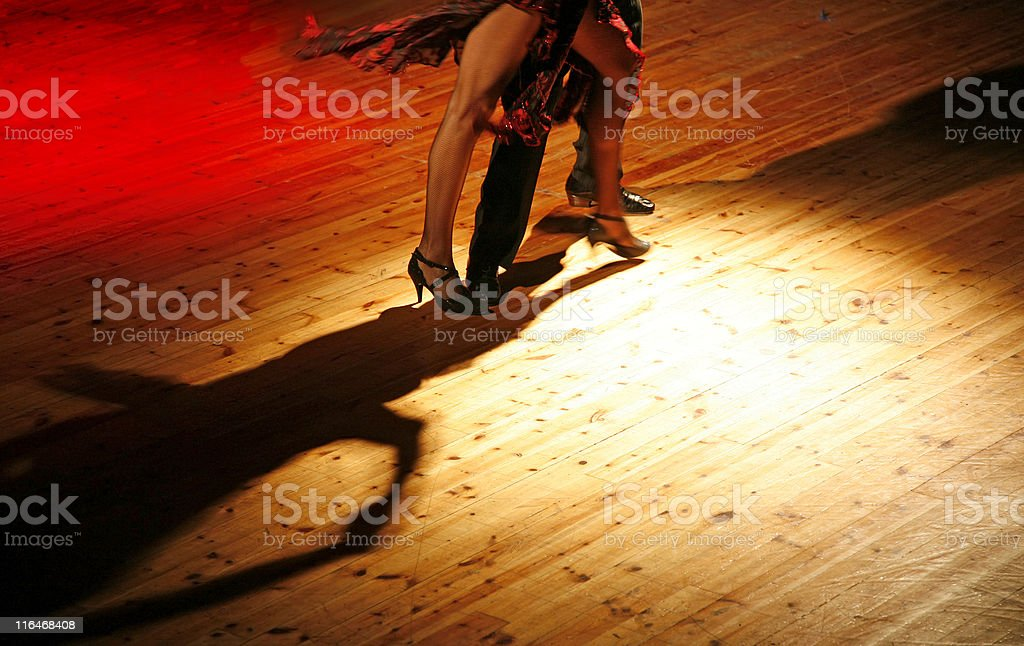 Couple dancing tango stock photo