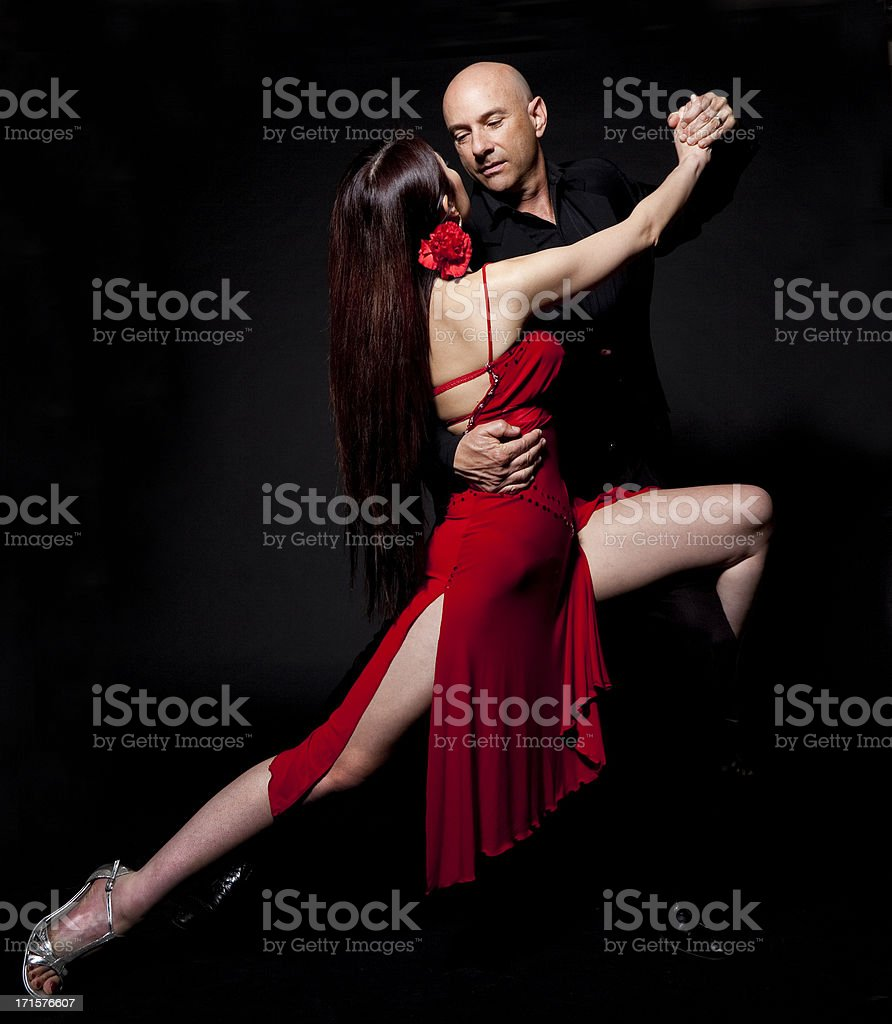 couple dancing the tango royalty-free stock photo