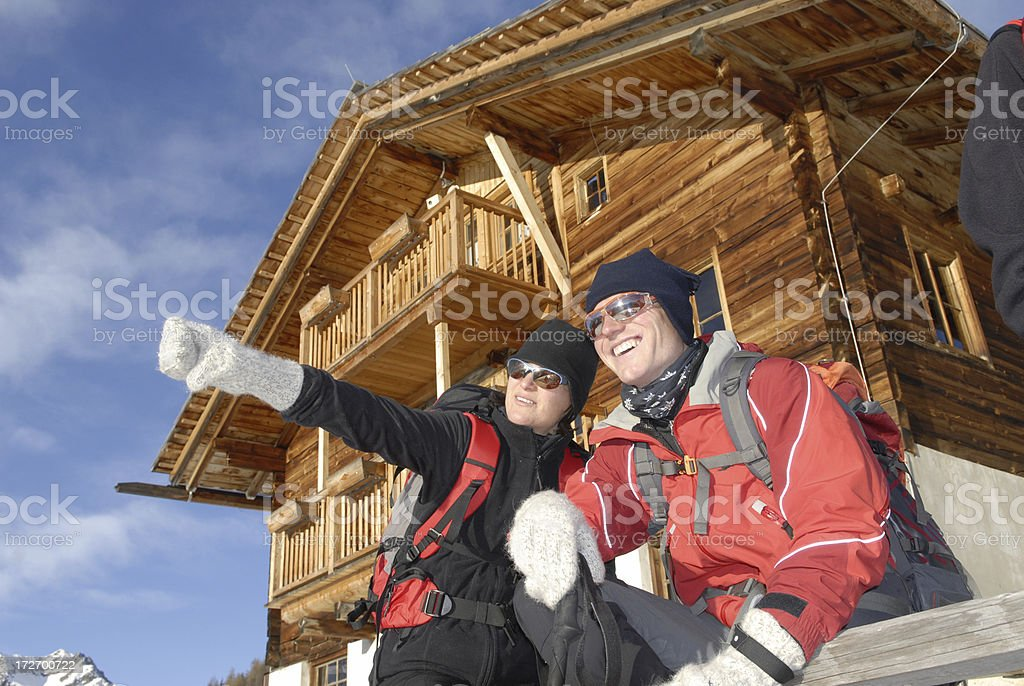 couple dear winter royalty-free stock photo