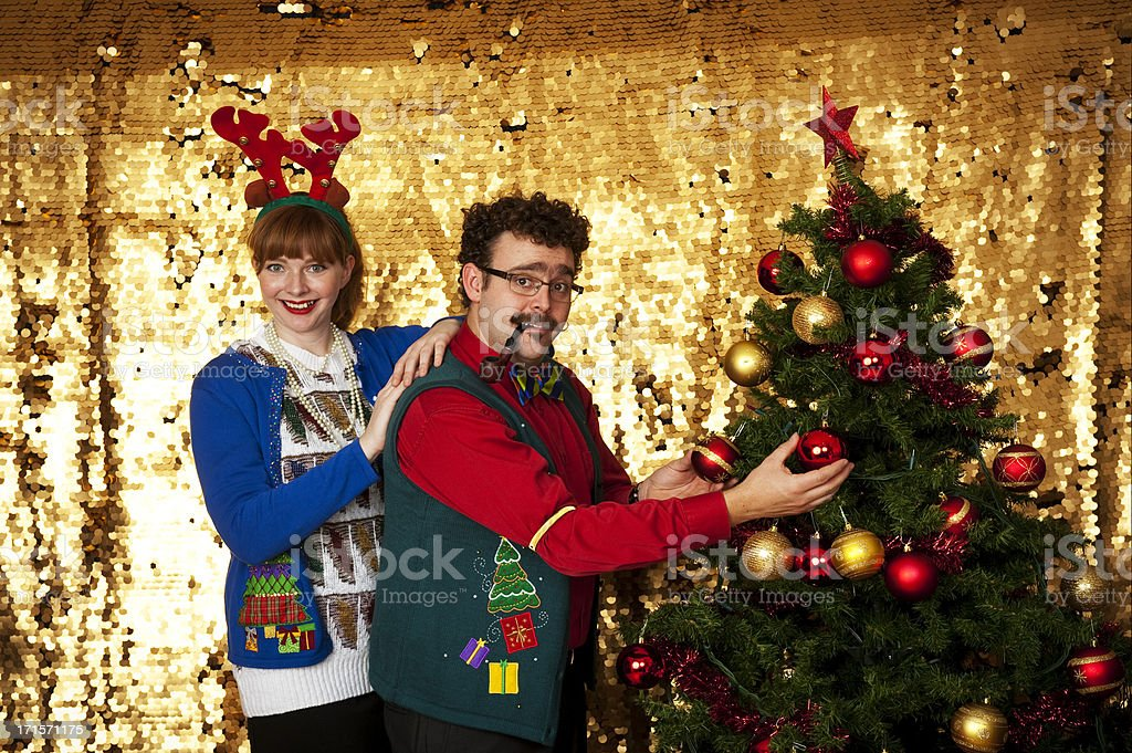 Couple Decorating stock photo