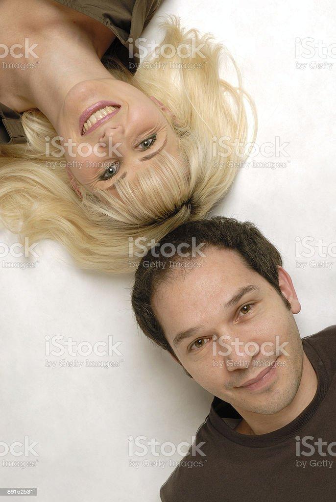 couple diagonal royalty-free stock photo