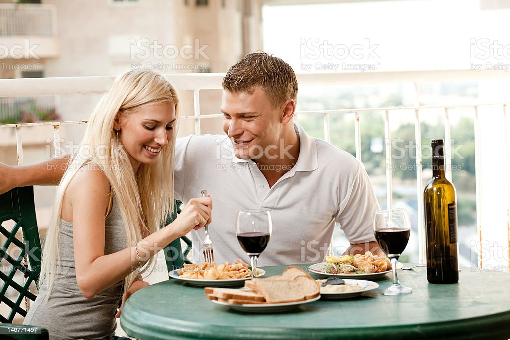 Couple dining royalty-free stock photo
