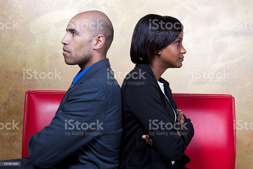 Couple Disagrees royalty-free stock photo