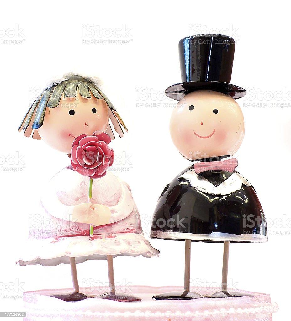 Couple doll royalty-free stock photo