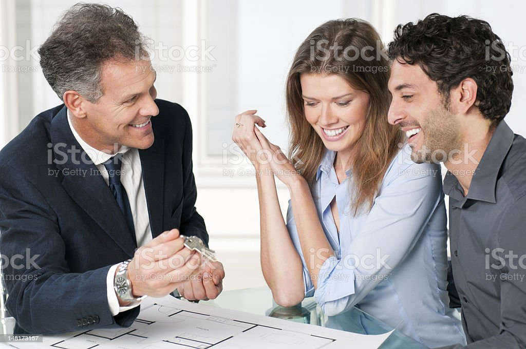 Couple dreaming new house royalty-free stock photo