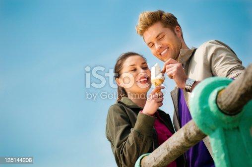 istock Couple eating ice cream 125144206