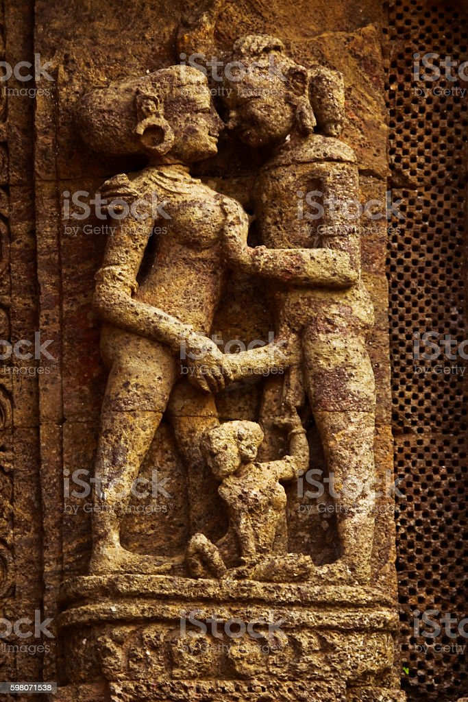 Couple embraced in romance stock photo